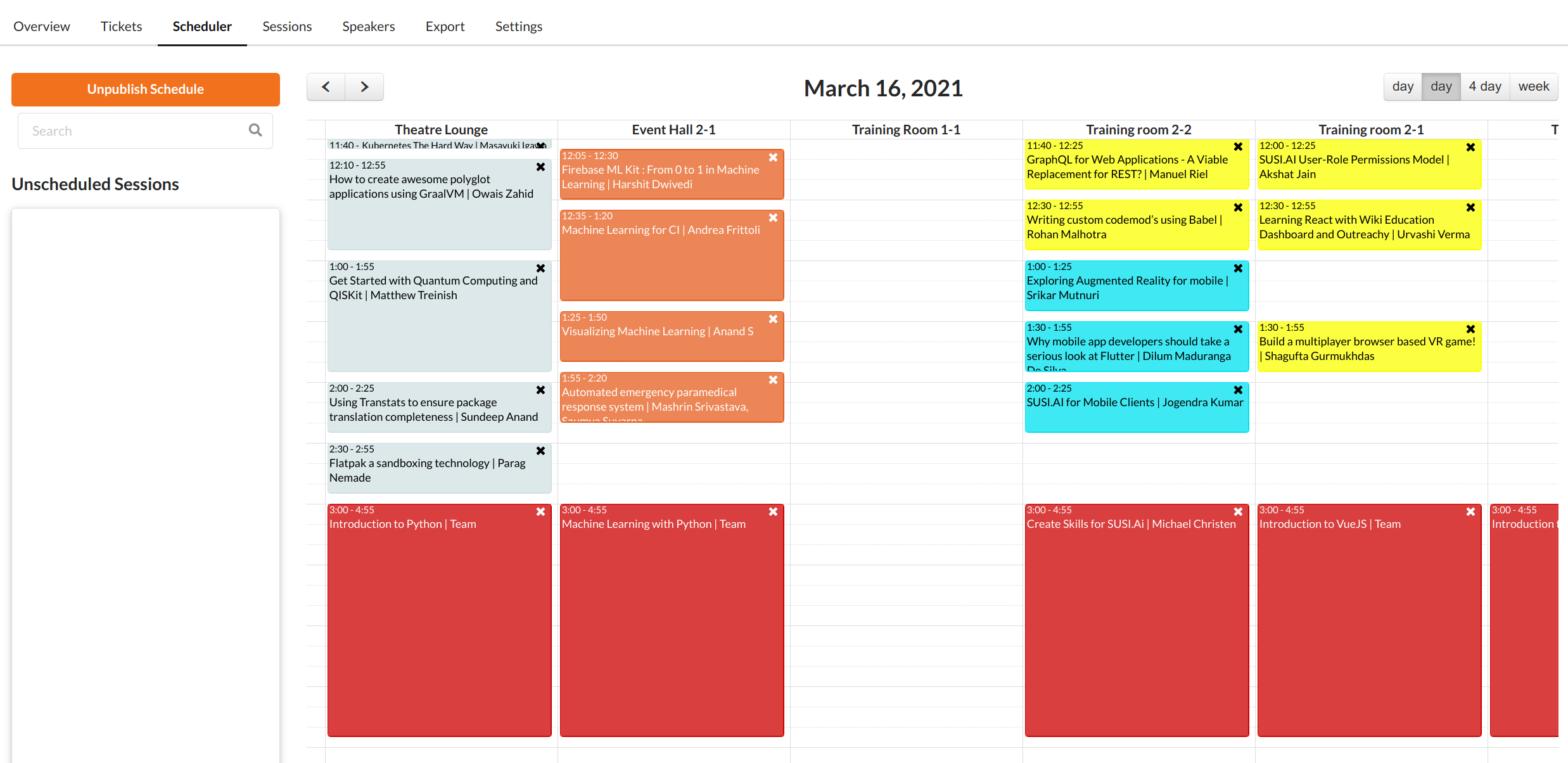 Eventyay Scheduler